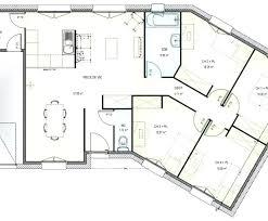 plan maison en l 4 chambres plan maison plain pied 4 chambres sans garage en u
