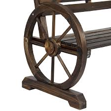 Wooden Outdoor Furniture Amazon Com Best Choice Products Patio Garden Wooden Wagon Wheel
