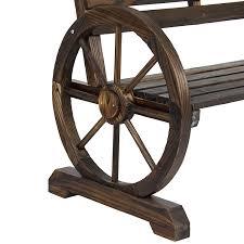 Wooden Garden Furniture Amazon Com Best Choice Products Patio Garden Wooden Wagon Wheel