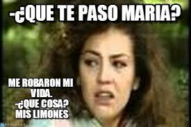 Maria Meme - que te paso maria maria meme on memegen