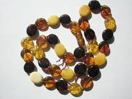 amber beads necklace images Genuine baltic amber mixed color oval tabular beads necklace JPG