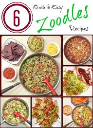 6 quick and easy zoodles recipes