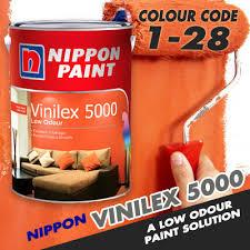 qoo10 nippon paint vinilex 5000 5litre low odour paint colour