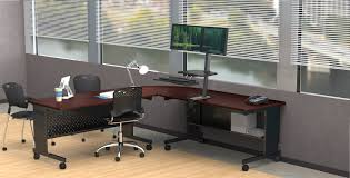Sit Stand Computer Desk by Balt Up Rite Desk With Mounted Sit Stand Height Adjustable 2