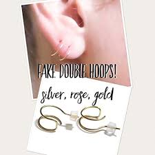earrings for second hoop earrings cheater earrings faux second piercing