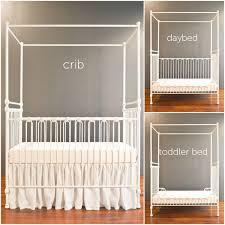 canopy crib distressed white