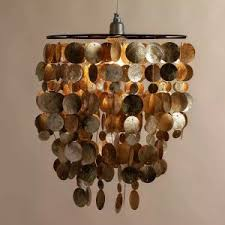 Faux Capiz Chandelier How To Make A Faux Capiz Shell Chandelier Shade For Under 20
