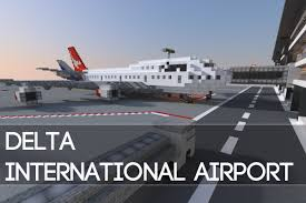 Atlanta Airport Map Delta by Minecraft Delta International Airport Youtube