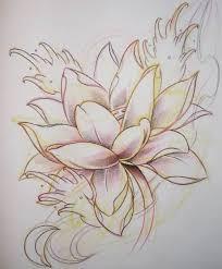 traditional lotus tattoo sketch on paper tattooshunter com