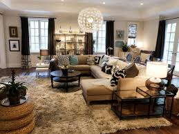 this eclectic living area in neutral tones is accented by touches
