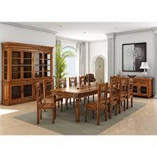 Solid Wood Dining Room Set Idaho Modern Rustic Solid Wood Rectangle 9 Piece Dining Room Set