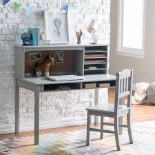 guidecraft media desk u0026 chair set gray hayneedle