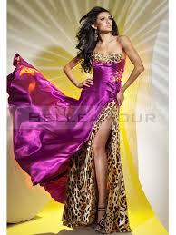 robe de soirã e chic pour mariage de soirée chic bustier longue léopard perles fente