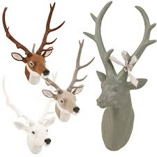 wall mounted reindeer head decoration stag ornament deer antler
