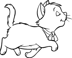 walking disney aristocats coloring wecoloringpage