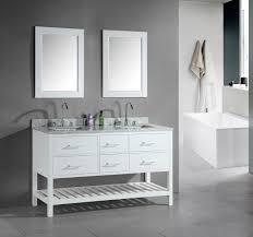 Floor Sink by Double Sink Vanity 60 Inch Carmine Colour Fabric Towel Brown