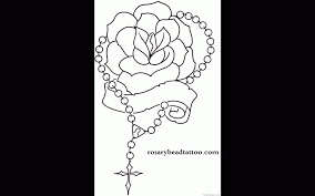 forgive me praying hands with rose and rosary tattoo design