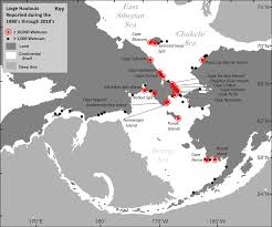 Alaska On World Map by More Than 160 Years Of Walrus Haulout Observations Reported By
