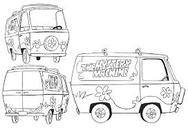 The Mystery Machine Scooby Doo Free Coloring Page Cartoon Pages Mystery Coloring Pages