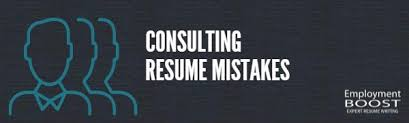 Consulting Resume Buzzwords Consulting Resume Mistakes Management Consultants Can Avoid