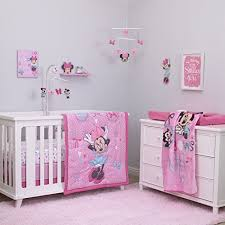 Crib Bedding Set Minnie Mouse Disney Minnie Mouse 4 Crib Bedding Set All About Bows