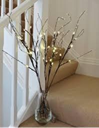 pre lit branches premier decorations pre lit decorative twigs with 16 white leds