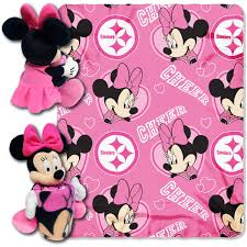 minnie mouse cheerleader pittsburgh steelers nfl throw and hugger