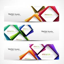 design header paper header with colorful squares vector free download