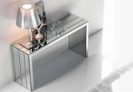 glass mirrored console table modern mirrored console table probhost design