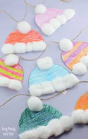 Christmas Crafts For Classroom - winter hats craft for kids perfect classroom craft free