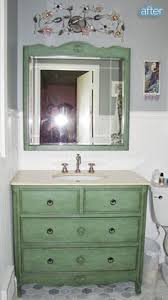 Refurbished Bathroom Vanity I Just Repurposed An Old Dresser To Use As A Vanity In Our New