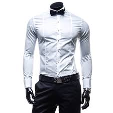men long sleeve bow tie solid shirt formal dress alex nld