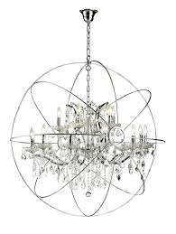 Crystal Sphere Chandelier Wrought Iron Sphere Chandelier U2013 Eimat Co