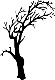 scary halloween clipart black and halloween tree clipart black and white clipartxtras