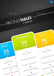 111 best pricing tables templates images on pinterest templates