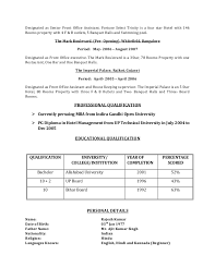 Sample Resume Education Section by Rajesh Kumar Cv