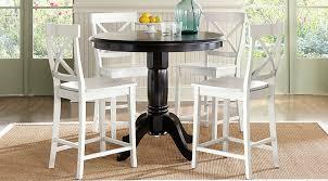 Brynwood Black  Pc Counter Height Dining Set Dining Room Sets Black - Counter height dining table in black