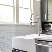 Kitchen With Farm Sink - corner farmhouse sink design ideas