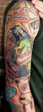 cartoon tattoo shoulder arm ideas tattoomagz