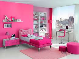 bedroom awesome girly room ideas with pink color wall painted
