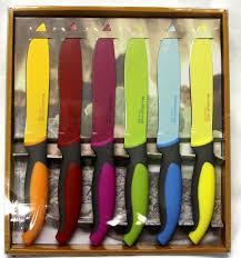 amazon com brandani inox italian style steak knives set of 6 amazon com brandani inox italian style steak knives set of 6 rainbow