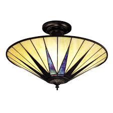 tiffany art deco dark star uplighter ceiling light for low ceilings