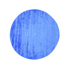 Modern Round Rugs by 9 Ft