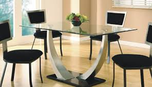 Dining Room  Sensational Glass Top Dining Table Kerala Exquisite - Glass top dining table hyderabad
