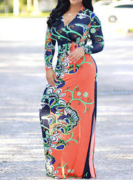 women u0027s long sleeved maxi dress with paisley print green