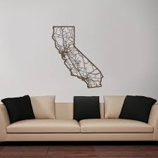 district17 california map wooden wall wall plaques
