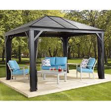 patio gazebo costco sojag mykonos sun shelter with galvanized steel roof