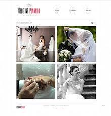 wedding planner website planner html5 website design with homepage image slideshow