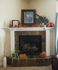 mantle decor with rich wall layers complementing the stone