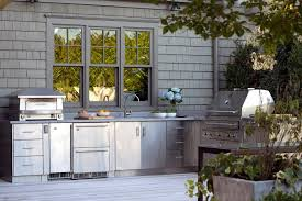 Outdoor Stainless Steel Kitchen - outdoor kitchen simple idea to complete backyard